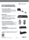 LightSpeed Technologies TOPCAT ACCESS WITH ACTIVATE DAILY Operation Instructions 2 pages