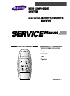 Samsung MAX-KX75 Service Manual 42 pages