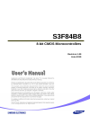 Samsung S3F84B8 Operation & User's Manual 322 pages