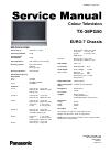 Panasonic TX-36PG50 Service manual