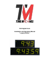 Time Machines 760-240-000 Installation And Operation Manual 16 pages