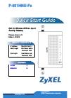 ZyXEL Communications P-661HNU-Fx Quick start manual