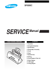 Samsung SF-4300C Service Manual 93 pages