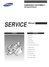 Samsung SF3000 Service Manual 114 pages