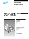 Samsung SF6500 Service Manual 131 pages