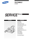 Samsung SF700AT Service Manual 64 pages