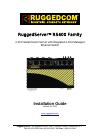 RuggedCom RuggedServer RS401 Installation manual