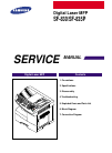 Samsung SF-830 Service Manual 189 pages