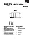 Integra RDA-7 Service Manual 29 pages