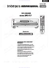 Integra DPC-7.7 Service Manual 47 pages