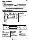 Indesit Aria MWI 3213 IX Daily Reference Manual 4 pages