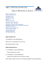 NEC SV-8100 Quick Reference Manual 5 pages