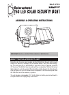MAXSA 44150-SL Assembly & Operating Instructions 16 pages