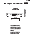 Integra DPS-5.4 Service Manual 86 pages