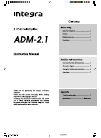 Integra ADM 2.1 Instruction Manual 8 pages