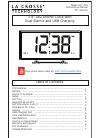 La Crosse 617-249 Instructional Manual 8 pages