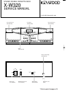 Kenwood X-W320 Service Manual 17 pages