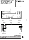 Kenwood X-SG7G Service Manual 15 pages