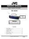 JVC RC-W305 Service Manual 18 pages
