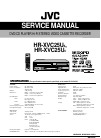 JVC HR-XVC25US Service Manual 105 pages