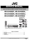 JVC HR-XV45SEF Service Manual 169 pages