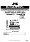 JVC DR-MV2SEU Service Manual 99 pages