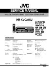 JVC HR-XVC21UJ Service Manual 108 pages