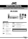 JVC HR-XV2EK Service Manual 114 pages