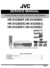 JVC HR-XV28SEF Service Manual 131 pages