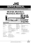 JVC HR-XV1EK Service Manual 135 pages