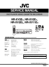 JVC HR-XV2EX Service Manual 116 pages