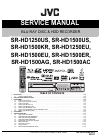 JVC SR-HD1250US - Blu-ray Disc & Hdd Recorder Service Manual 39 pages