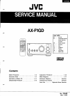 JVC AX-F1GD Service Manual 10 pages