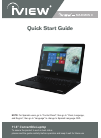 IVIEW MAXIMUS II Quick Start Manual 17 pages