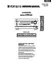 Integra DTR-8.8 Service manual