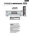 Integra RDV-1.1 Service Manual 139 pages