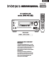 Integra DHC-40.1 (B) Service Manual 135 pages