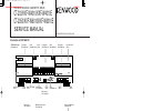 Kenwood CT-203 Service Manual 20 pages