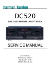 Harman Kardon DC520 Service Manual 41 pages