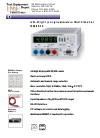 Hameg HM 8012 Operation & User's Manual 14 pages