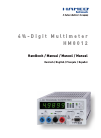 Hameg HM 8012 Manual