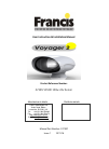 Francis Searchlights Voyager 2 User Instruction & Installation Manual 36 pages
