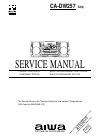 Aiwa CA-DW257 Service Manual 30 pages