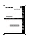 Aiwa CA-WR88 Service Manual 11 pages