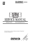 Aiwa CA-DW237 Service Manual 9 pages