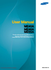 Samsung ME40A Operation & User's Manual 221 pages