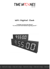 Time Machines 760-240W-000 Installation And Operation Manual 15 pages
